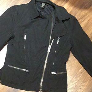 Donna Karan motorcycle style cloth jacket 8